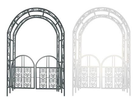 Illustration of gardening arch