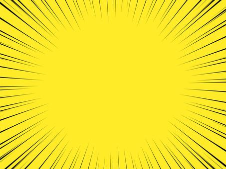 背景素材 黑色集中線 黃色背景