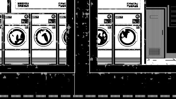 自助洗衣店和窗戶,白色背景,透明背景