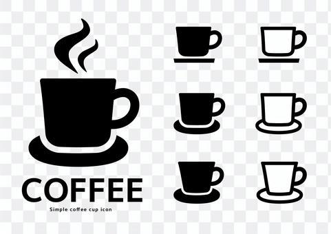 咖啡杯黑白飲料