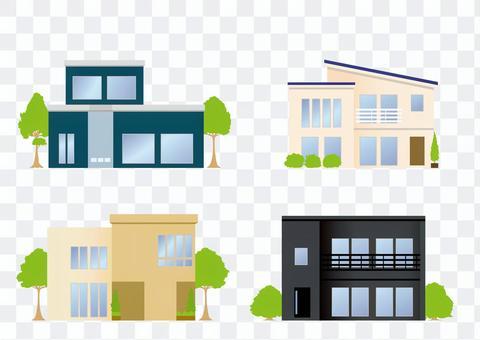 Vector image-fashionable home set