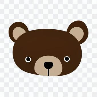 Face of a bear
