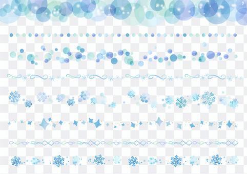 水彩畫材料027冬天的線集