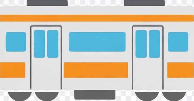 火車側身橙色