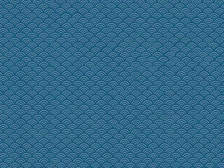 青海波浪紋(靛藍)的背景