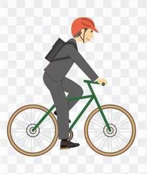 騎自行車上下班的人
