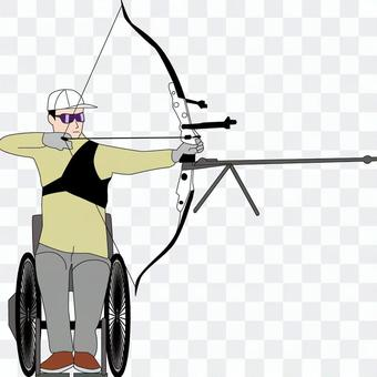 Archery competition Bow and arrow player Wheelchair