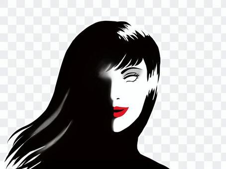 一個無敵地笑的女人