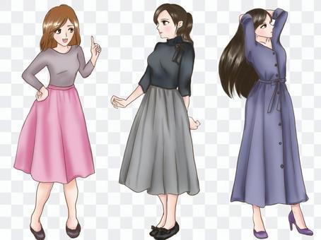 3種春季女士時裝