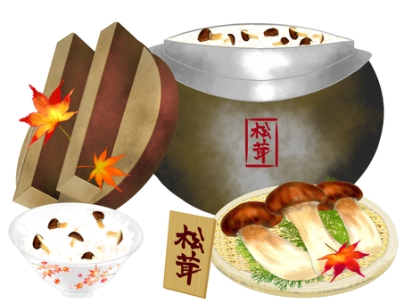 松茸蘑菇飯(菜單)