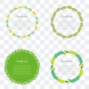植物圓形框架集