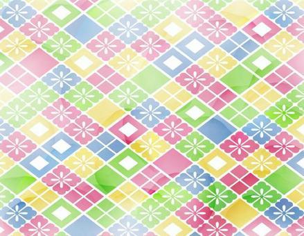 Watercolor-like background of Hinamatsuri _ Diamond pattern _ thin