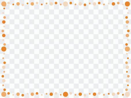 圓點框架橙色