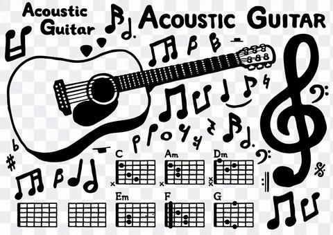 Acoustic guitar set 1