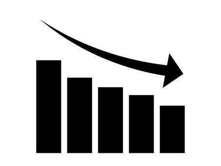 簡單降序圖形圖標:黑色