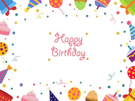 Birthday card, happy birthday