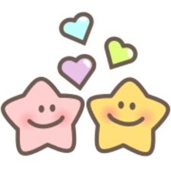 Star smile smile face heart