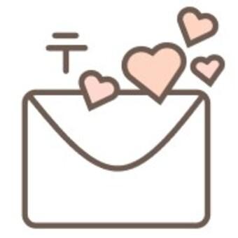 郵件郵件白色心形信封