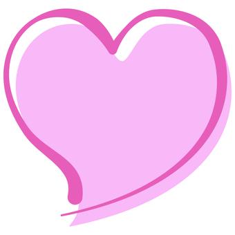 心手寫粉色