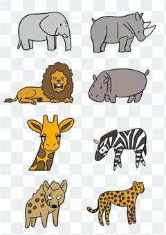 サバンナの動物たち