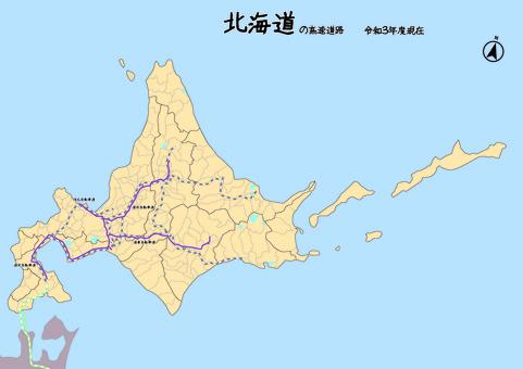 北海道高速公路日本地圖