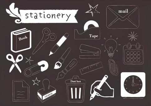 Blackboard stationery set 2