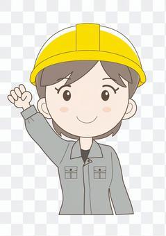 工场女性作业员H