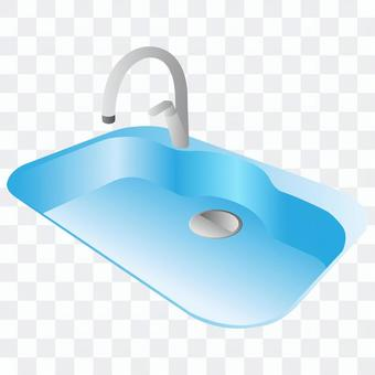 水槽(藍色)