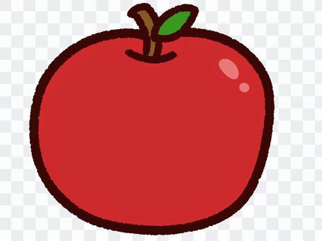 かわいい秋の果物 リンゴ