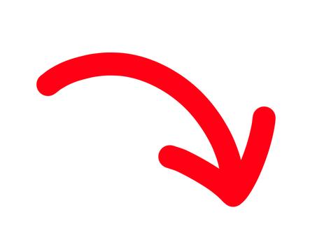 向下箭頭紅色
