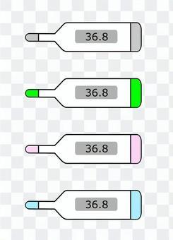 多彩溫度計圖