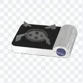 Hand-drawn style desktop stove