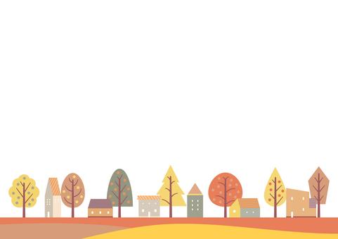 秋天街道的簡單背景