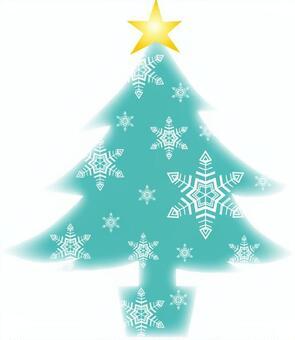 水色的聖誕樹