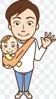 寶寶被爸爸抱