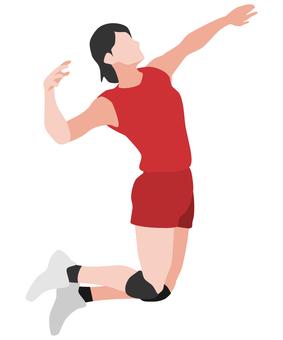 Silhouette Volleyball Women's Spike