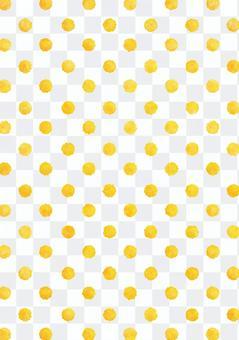 水彩點點紋理黃色的垂直
