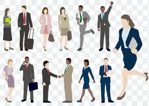 Business people illustration set