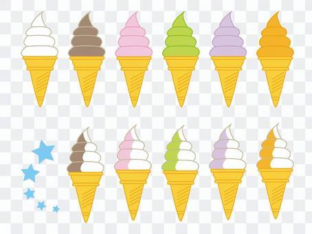 ソフトクリーム(いろいろ)