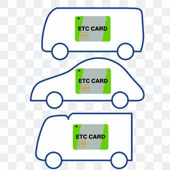 ETC卡裝載車輛的插圖