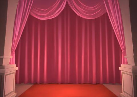Stage curtain background illustration 04