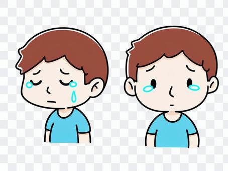一個哭泣的人的插圖