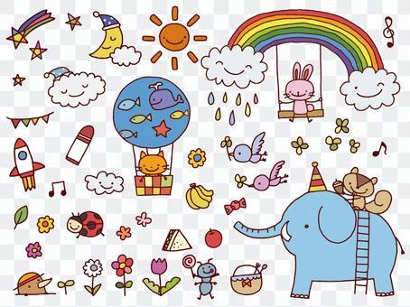 Illustration set for children