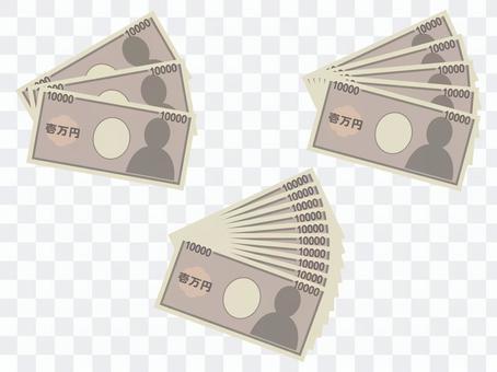 지폐 / 3 만원 · 5 만원 · 10 만원
