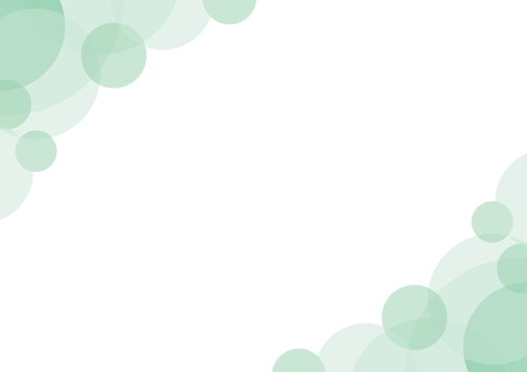 Frame background green green curve circle