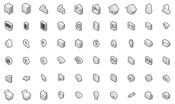 Isometric icon set