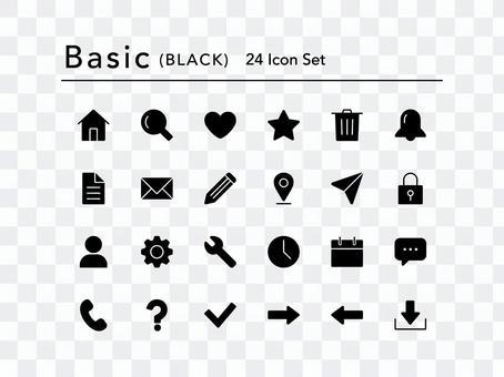 圖標集(基本黑色)