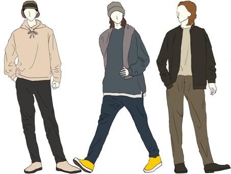 Autumn / winter adult calm fashion men's set