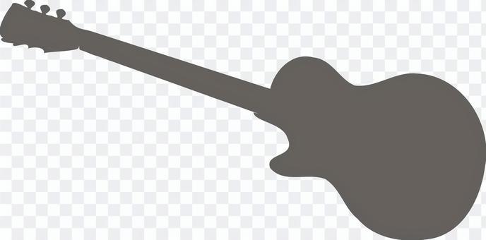 電吉他剪影