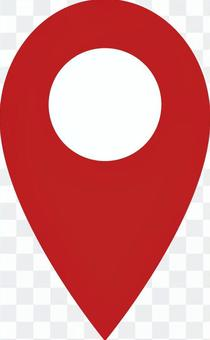 Map pin pointer illustration material